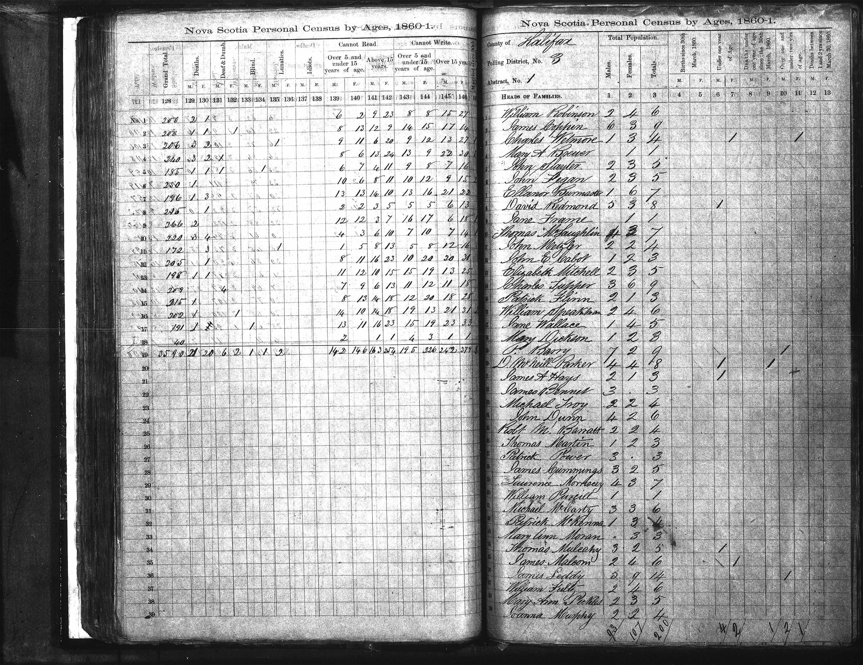 Page numérisée du Recensement de 1861 (Canada-Est, Canada-Ouest, Île-du-Prince-Édouard, Nouveau-Brunswick et Nouvelle-Écosse), Page numéro , pour Charles Tupper