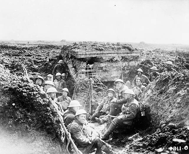 archived vimy ridge oral histories of the first world war  photograph of canadians occupying a captured german machine gun emplacement vimy ridge