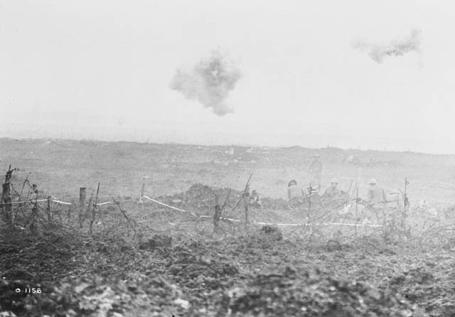 Photograph of a battlefield.