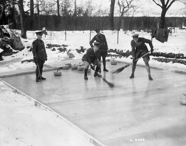 Curlers on rink
