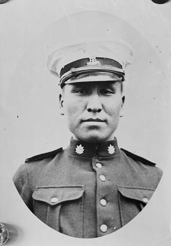 Photo of an indigenous soldier