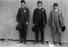 Photograph of three Arab immigrants, 1908