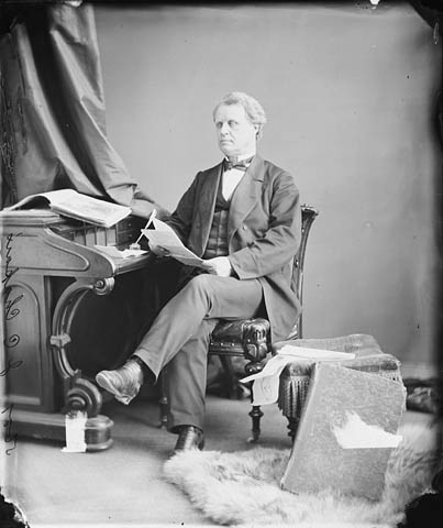Photo : L'honorable Jean-Charles Chapais (receveur général); Ottawa (Ontario); avril 1870