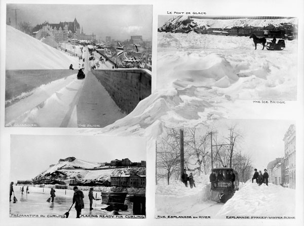 Preparations for curling, Québec, Quebec, circa 1900-1925