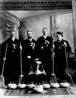 Photograph of the winners of the Grand Challenge Cup, Winnipeg Bonspiel, 1892