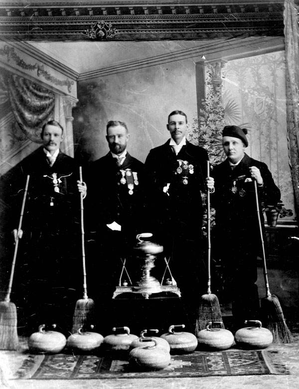 Gagnants de la coupe Grand Challenge, au bonspiel de Winnipeg, 1892