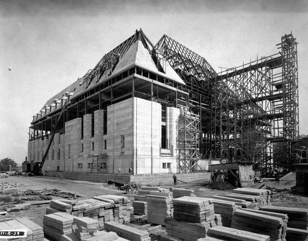Photo de l'édifice de la Cour suprême en construction, Ottawa, 11 août 1939
