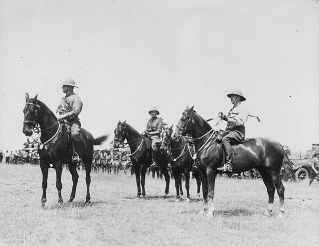 Soldiers on horseback
