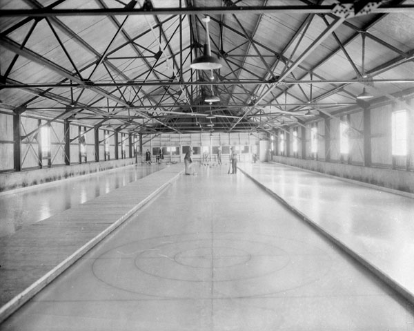 Curling rink at the Manor Richelieu, Montréal