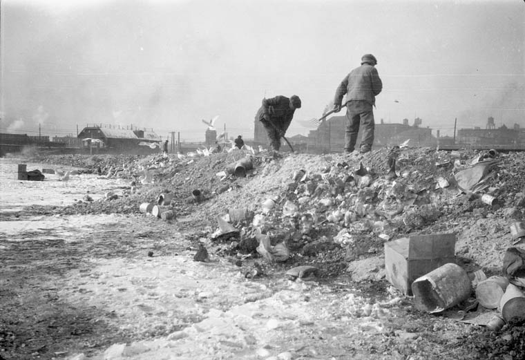 A Toronto dump before the invention of garbage bags