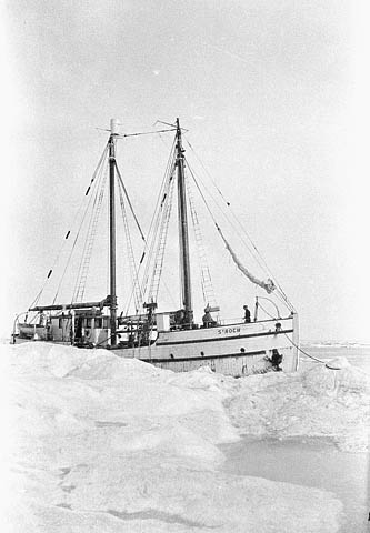 Photograph: The RCMP vessel 'St. Roch' in the ice