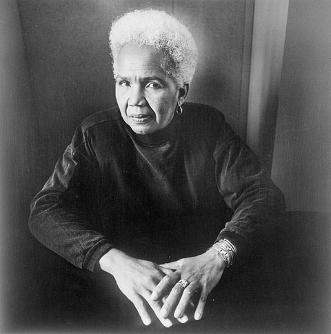 Photograph of Rosemary Brown (1930-2003), who became the first black woman member of any Canadian parliamentary body when she was elected to the British Columbia provincial legislature in 1972, September 25, 1990