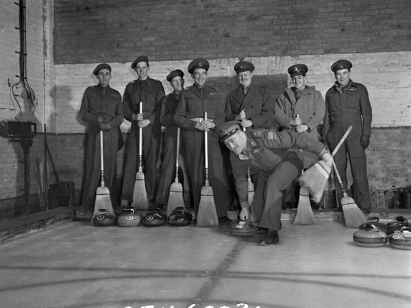 Opening of a curling rink, Oldenburg, Germany, 1946