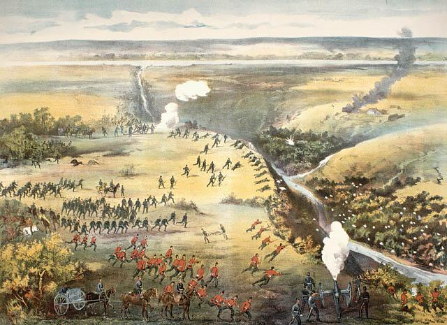 west of battle