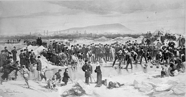 Curling on the St. Lawrence with the Marquis and Lady Dufferin and Sir John A. Macdonald, Montréal, 1878