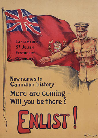 Canada and the First World War. English poster - Ernest Nelson - We were