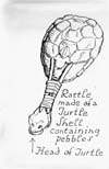 Indian Musical Instruments, TURTLE-SHELL RATTLE