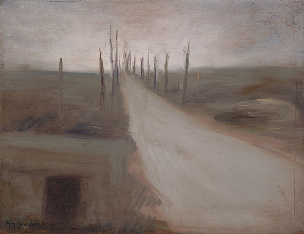 The Sadness of the Somme, ca. 1920. Oil on plywood. 46.1 x 59.5 cm.
