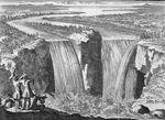 Gravure des chutes Niagara, 1697