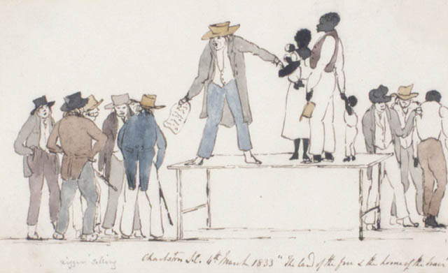(Slave Market), Charleston, South Carolina,  March 4, 1833