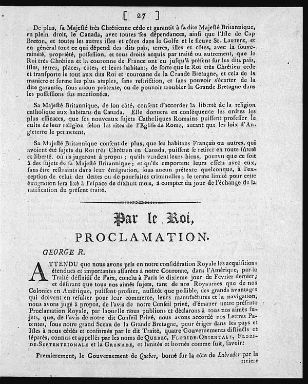 weakness in the Proclamation of 1763 lies in the nature of the document.