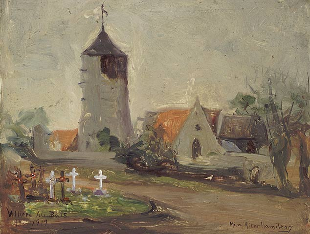 Villiers-au-Bois, 1919. Oil on cardboard. 26.4 x 34.5 cm.