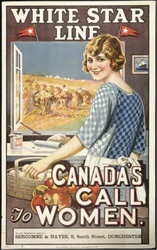 Poster entitled CANADAS CALL TO WOMEN