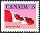 Canada, 5¢ The Flag, 12 January 1990