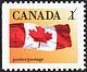 Canada, 1¢ The Flag, 12 January 1990