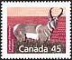 Canada, 45¢ Pronghorn, 12 January 1990
