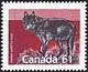 Canada, 61¢ Timber wolf, 12 January 1990
