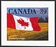 Canada, 39¢ Canadian flag quick sticks stamp pack, 8 February 1990