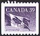 Canada, 39¢ Flag, 8 February 1990