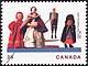 Canada, 39¢ Settlers' dolls, 8 June 1990