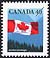 Canada, 40¢ [Flag and mountains], 28 December 1990
