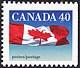 Canada, 40¢ The flag, 28 December 1990