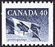 Canada, 40¢ Flag, 28 December 1990