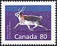 Canada, 80¢ Peary caribou, 28 December 1990