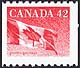 Canada, 42¢ The flag, 27 December 1991