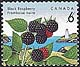 Canada, 6¢ Black raspberries, 5 August 1992
