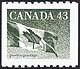 Canada, 43¢ The flag, 30 November 1992
