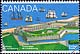 Canada, 43¢ [Louisbourg harbour and ships], 5 May 1995