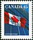 Canada, 45¢ The flag, 31 July 1995