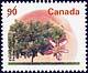 Canada, 90¢ Elberta peach, 31 July 1995