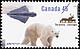 Canada, 45¢ [Polar bear, caribou], 15 September 1995