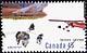 Canada, 45¢ [Dog-sled team, ski plane], 15 September 1995
