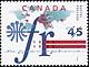 Canada, 45¢ La francophonie, 6 November 1995
