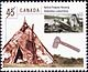 Canada, 45¢ Native Peoples Housing, 23 September 1998