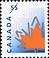 Canada, 55¢ [orange stylized maple leaf], 28 December 1998