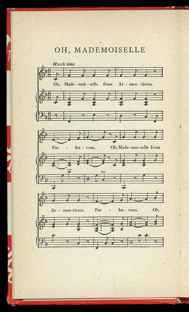 Sheet music and lyrics